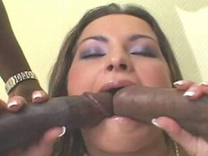 BBC DP Anal on Slut Brunette