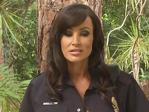 Busty cop Lisa Ann gives out her prick punishment