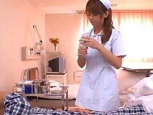 Hot Asian Nurse Sucks Cock