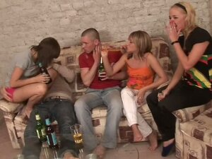 Real Hardcore fucking In Crazy Sex Party with Bunch of Beauties