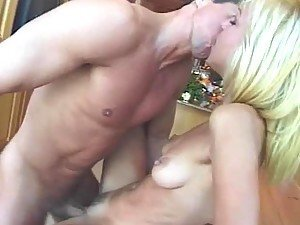 Horny blond Nympho babe Mila gets fucked an cummed