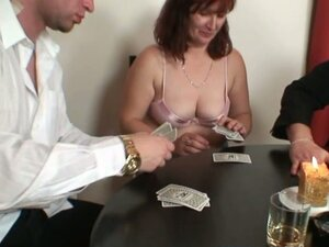 Two horny guys take advantage of this horny slut