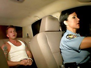 Hot Busty Brunette Cop In Uniform Blowjob Hardcore sex