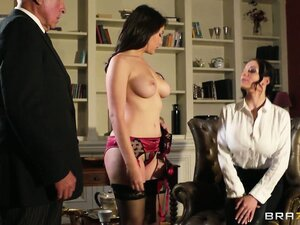 Madame's finishing school for whores teaches this brunette a fucking lesson