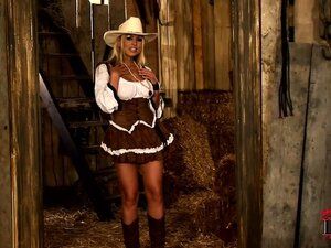 Dazzling cowgirl with wonderful tits and a sexy ass is yearning for a wild ride