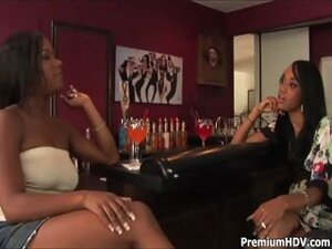 Two black hotties toying