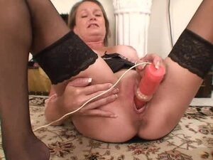 Horny granny needs to cum