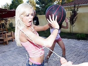 Kacey Jordan is practicing to join her college basketball team. However the guys are sitting court side waiting to jizz all over her. Kacey and her friends are some hot ass bitches. Sometimes you can't help rubbing one out during a game...