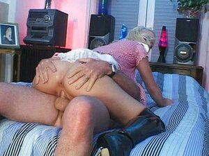 Blonde sweetie ass fucked in black boots