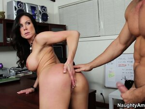 Kendra has him exploring her tight snatch from behind and can't get enough of it