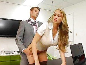 A doggy style office fuck sizzles
