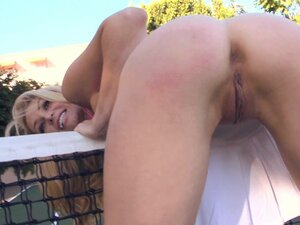 Amazing sologirl Heather Vandeven in upskirt is showing her tight ass outdoors
