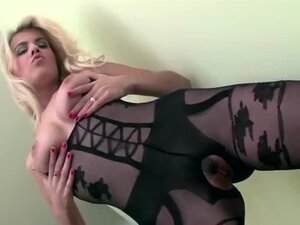 Blonde fucking wearing a crotchless bodystocking