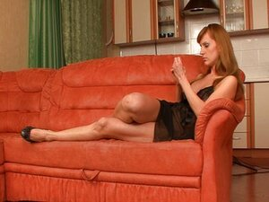 Olga humiliating her cuckold husband