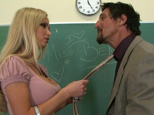 Perverted blonde Nikki Benz is getting banged by her teacher
