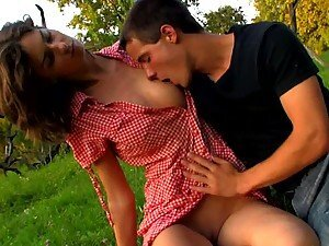 Irenka And Karol Passionate Outdoor Scene