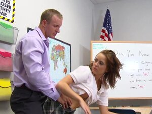 Mae Meyers being fucked in her accurate pussy in the classroom