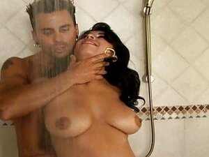 Cute latina Nina fucking in a bath and get semen