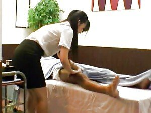 Hot Japanese massage woman gets fingered and pounded