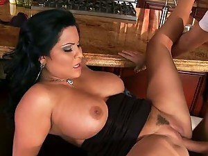 Busty Latina MILF Sophia Lomeli Gets Her Ass Fucked After Blowjob