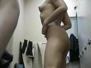 Nude females get spied dressing up after shower on spy cam