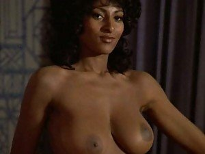 Cock-Bursting Ebony Star Pam Grier Shows Her Hot Booty and Huge Rack