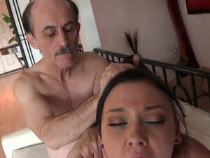 Ivy Winters sucks long dick of that old man