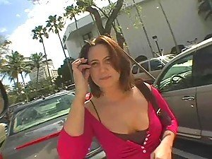 Banging van and hot busty brunette will make perfect tandem