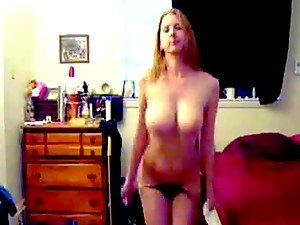 Busty Slut With Big Tits Stripping in Homemade Video