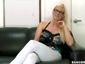 This MILF has curves in all the right places, when donning tight, white stretch pants and a blouse that shows the contour of large breasts, Kaylee Brookshire will talk to tease.