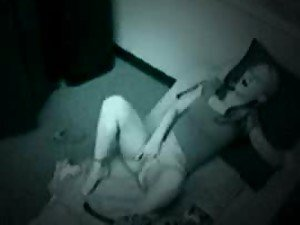 Blondie gets fucked on the couch under the security cam