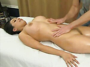 Naked massage gets her horny