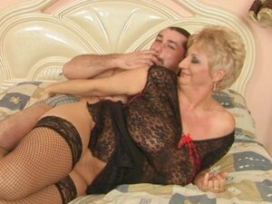 Busty Chubby Mature Blonde Astrid Getting Some Action