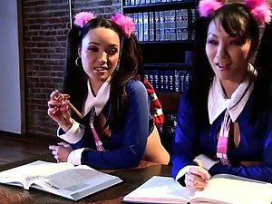 Asian Babes Fook Mi and Fook Yu Fucking In School Girl Uniforms