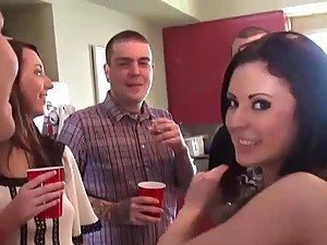 Horny Amateur Chicks Sucking and Fucking In Birthday Party