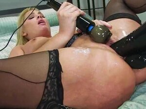 Flower Tucci letting Aiden Starr fist and shove toys in her ass and cunt