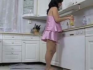Pregnant whore fucked in the kitchen