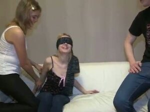 Porn watching to blindfolded blowjob to orgy