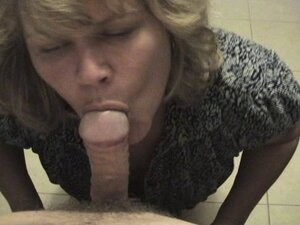 Mature is happy to see a lucky boy. POV