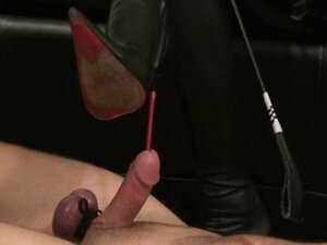 Femdom action involving boots