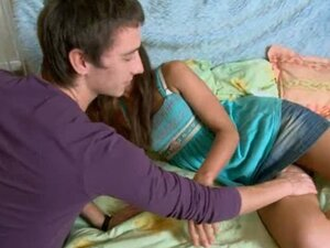 Russian couple banging hard on the bed