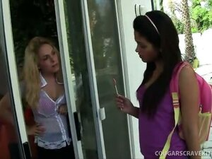 Married MILF Seduces Nubile Brown Hottie