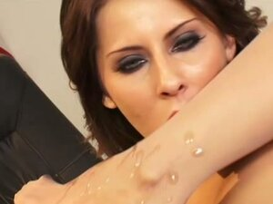 Madison Ivy's hot feet are glazed with goo