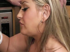 Engaged guy bangs BBW in the kitchen