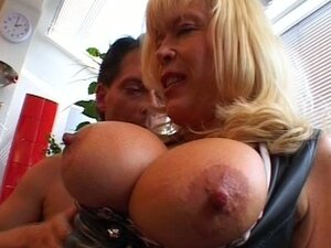 Blonde punk milf mature with busty body gets doogie