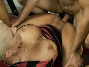 Short-haired pornstar Joslyn James with huge tits gets slammed hard and deep