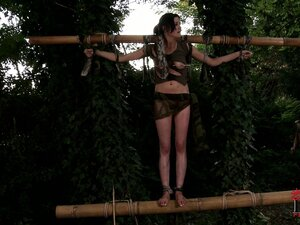 Deep in the jungle this naughty girl gets punished by her mistress