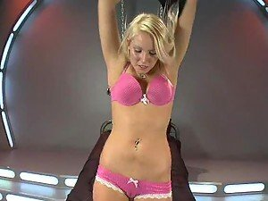 Blonde Cutie Sits On Machine & Screams Her Way To Orgasm