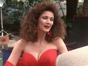Heart-Stopping Actress Lynda Carter Wearing a Really Hot Red Dress