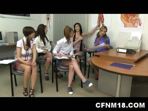 CFNM Orgy with 18yo Schoolgirls